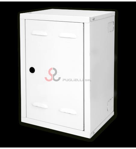 Cassetta gas bianca fuori misura con pretranci alla base (55x45x30)