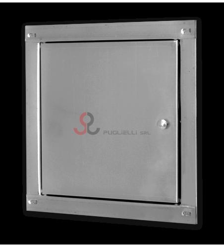 Sportello ispezione zincato (20x30x2) serratura in acciaio